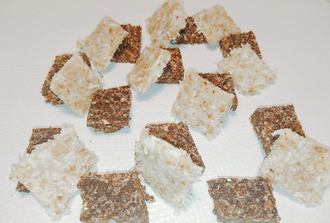 raw chocolat:noix de coco