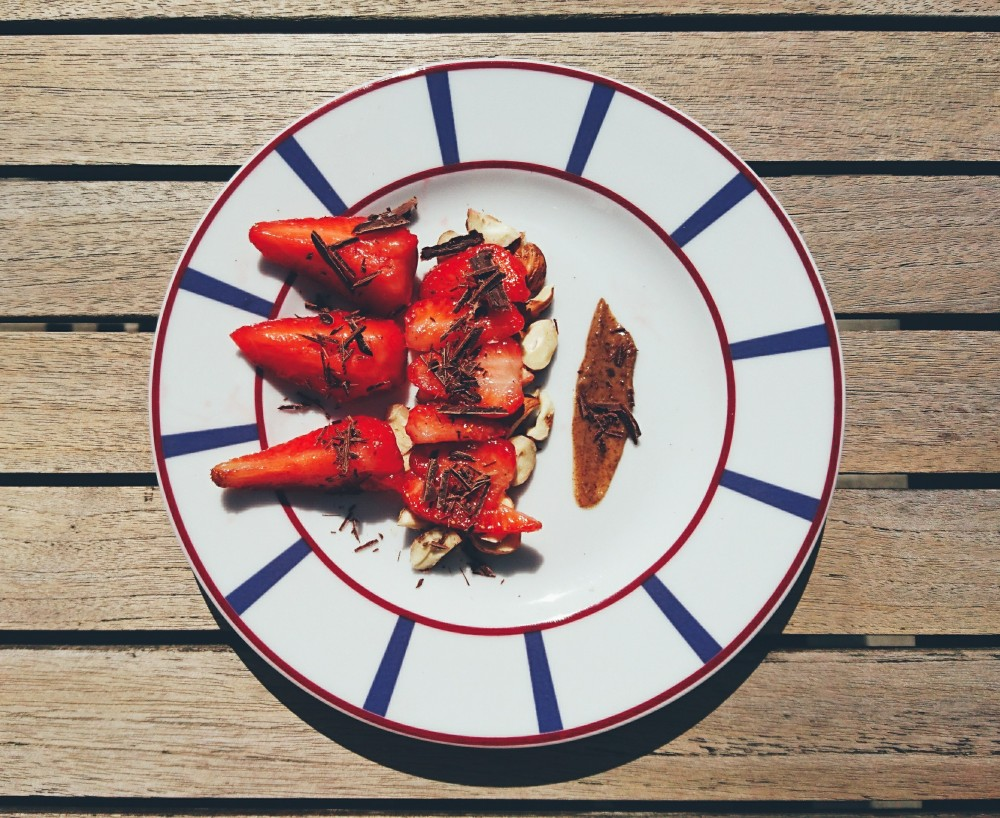 fraises choco noisettes