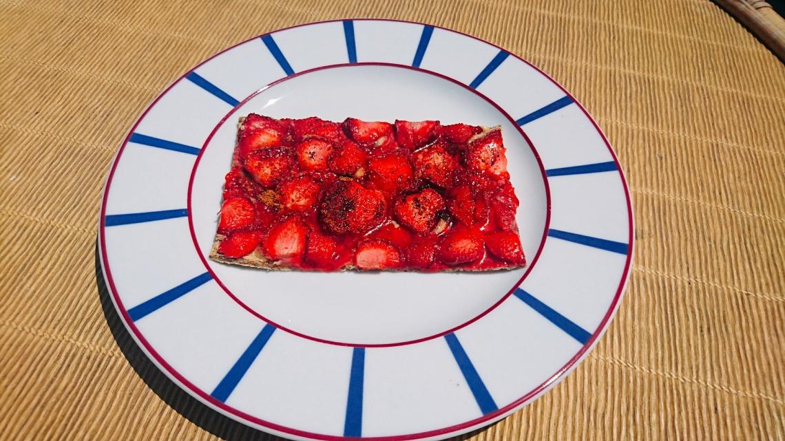 tarte aux fraises cuites