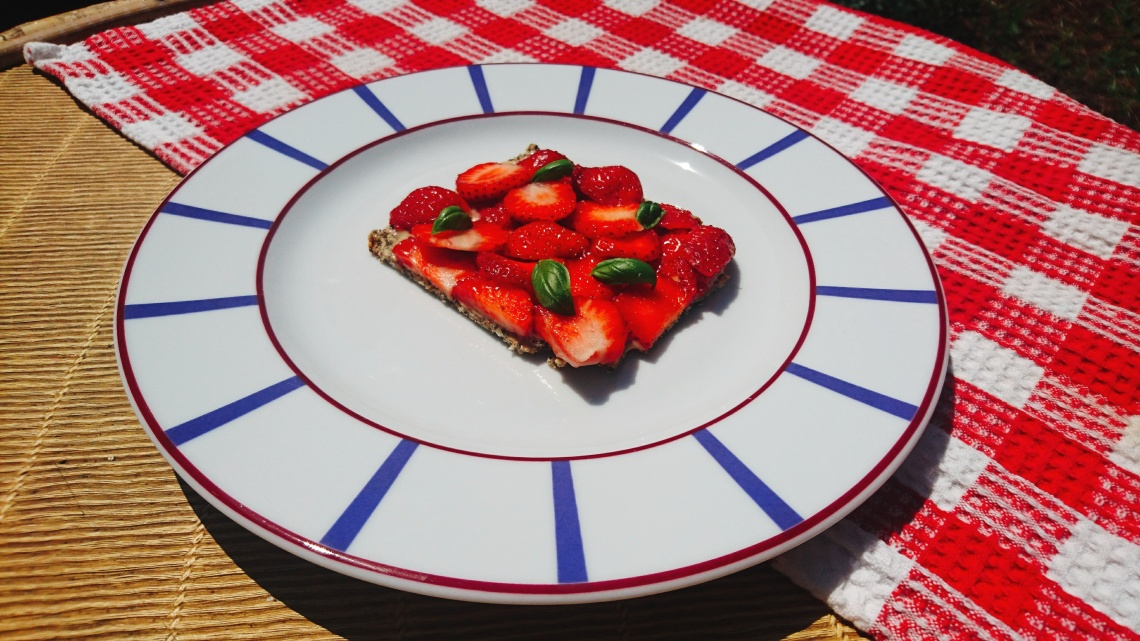 tarte aux fraises et basilic