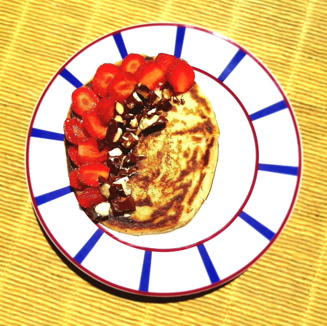 pancakes fraises:choco